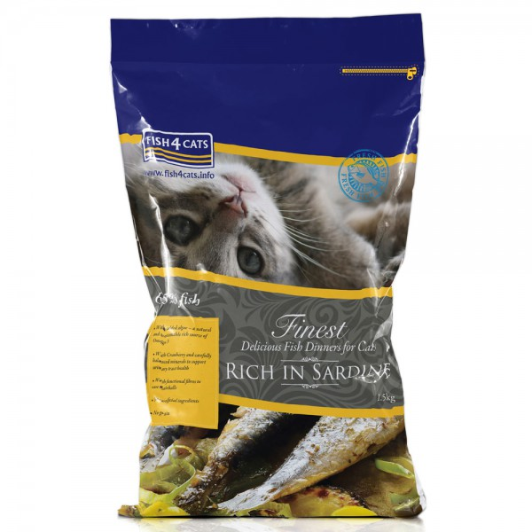 Finest Cat Dinner Trockenfutter Sardine - Fish4Cats