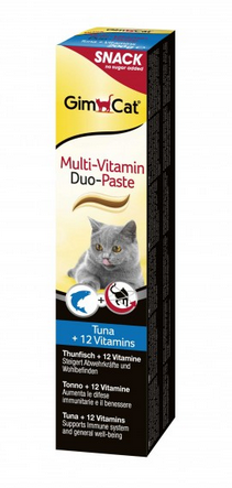 GimCat Multi-Vitamin Duo-Paste Thunfisch + 12 Vitamine