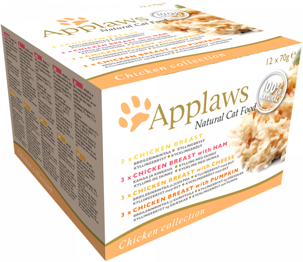 Applaws Dose Katze Adult 12 x 70 g Collection Huhn
