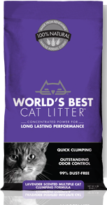 Katzenstreu Worlds Best Cat Litter Lavendel