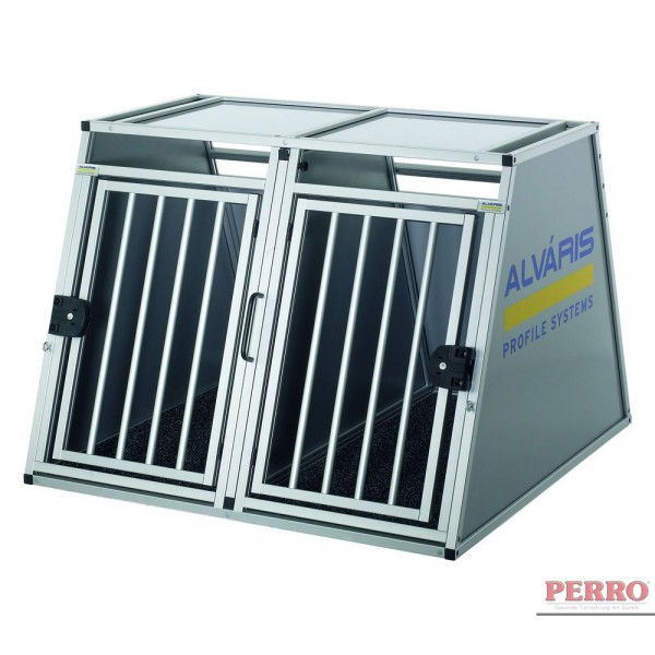 Hundetransportbox, Doppelbox KING H:630 x B:900 x T:800