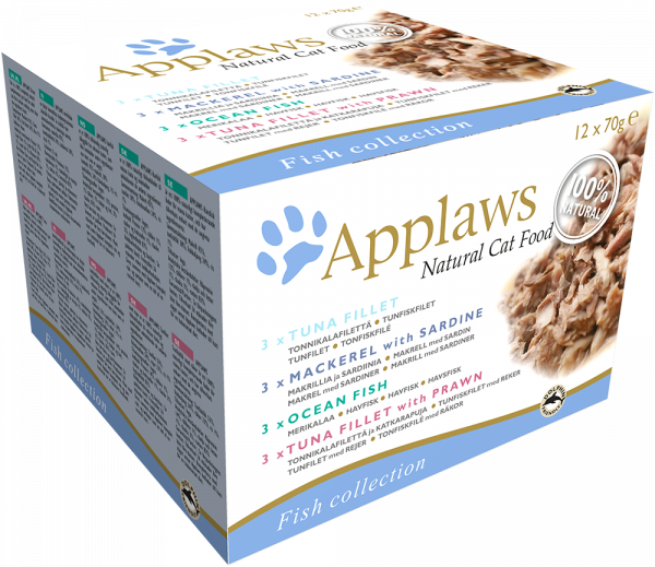 Applaws Dose Katze Adult 12 x 70 g Collection Fisch