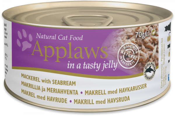 Applaws Dose Katze Adult Makrele & Seebrasse in Jelly