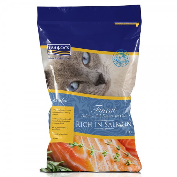 Finest Cat Dinner Trockenfutter Lachs