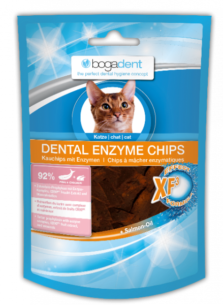 bogadent DENTAL ENZYME CHIPS FISH Katze 50 g