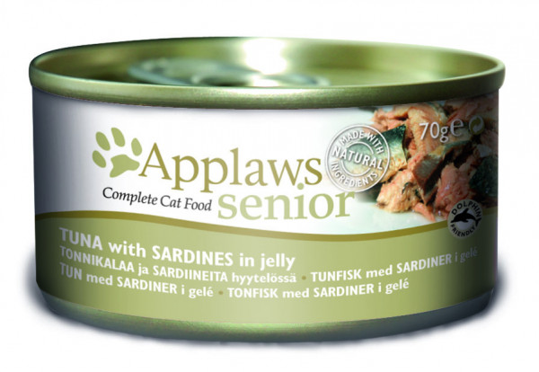 Applaws Dose Katze Senior Thunfisch & Sardinen in Jelly
