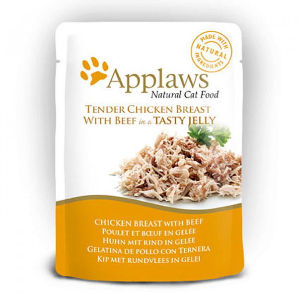 Applaws Pouch Jelly Adult Huhn & Rind